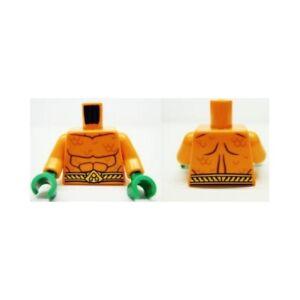 LEGO - Minifig Torso Bare Chest, Muscles Outline, Scales & Belt - (Aquaman)