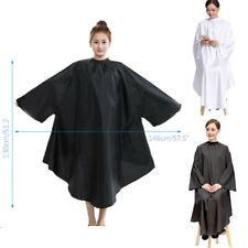 Black/ White Barber Hair Cape with Sleeves Cutting Styling Whole Body Protector