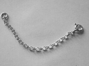 925 Sterling Silver Extender Safety Belcher Chain 6mm Bolt Ring MULTI SIZES