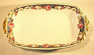 Vintage RTH Czechoslovakia Porcelain rectangular serving dish 9x5 transfer ware