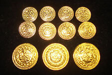 BLAZER    GOLD   METAL  BUTTONS  22 PIECES   PERFECT  FOR  JACKET  SUIT  COAT