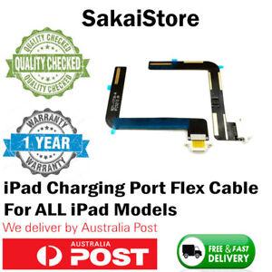 Charging Port Flex Cable For Apple iPad 1 2 3 4 5 6 Mini Air Black White