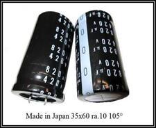 Electrolito condensador capacitor 820µf ± 20% 420v 105 ° 0,13ohm 35x60 1 trozo
