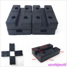 4 Pcs Black Recetangle Heavy Duty Car Off-Road Lift Accessories Rubber Arm Pads