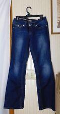 "YMI Junior Jeans Size 7 - Acid Washed - Boot Cut - 5 Pocket Embellished- 8"" Rise"