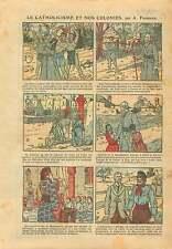 Missionnaires Catholique Colonies Franc-Maçons Musulman France 1925 ILLUSTRATION