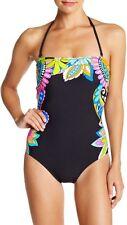 Nwt $148 Sz 6 Trina Turk Monaco One Piece Bandeau Swimsuit