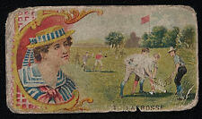 New listing Vtg Goodwin & Co Old Judge Games & Sports Series Card Lacross