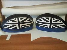 Vespa PX/T5/LML Pair of Side Panel Covers Union Jack Black & White