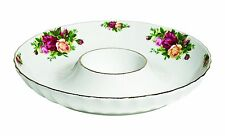 Royal Albert Old Country Roses FLUTED One Piece Chip and Dip, 12-Inch NEW