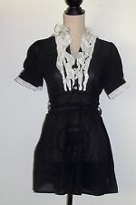 Chandelier Black and White Ruffles Gothic Lolita Short Sleeve Dress Size S/M