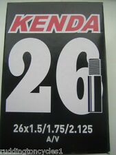 Kenda Boxed Cycle Bike inner tube 26 x 1.5 / 2.125 Schrader Valve A/V