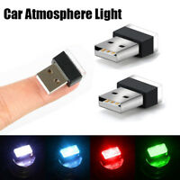 Mini Car Atmosphere USB LED Lights Colorful Light Lamp Auto Decoration Lighting