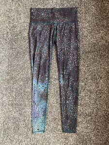 Teeki Mermaid Fairy Queen Teal Hot Pant Print Workout Legging Womens Size Medium