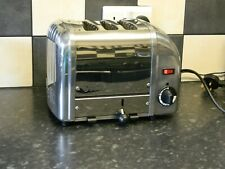 dualit 3 slice  toaster stainless steel and chrome finish