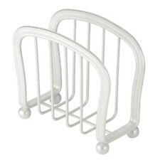 InterDesign York Lyra Napkin Holder for Kitchen Countertops, Table - Pearl White
