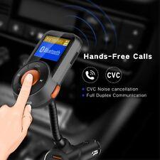 Wireless Bluetooth Car FM Transmitter Radio Mp3 Player USB Charger Handsfree UK