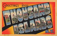 Large Letter postcard Greetings from Thousand Islands New York