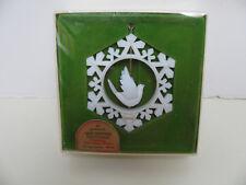VINTAGE Hallmark Christmas Ornament - Snowflake with Twirling Dove 1978 - w/ Box