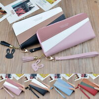 Women Lady Clutch Leather Wallet Long Card Holder Phone Case Purse Handbag US