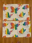 Vintage+Rainbow+Striped+Butterfly+Pride+2+Standard+Pillowcases