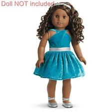 New American Girl Gabriela's Celebration Dress~Outfit Party Shoes~Velvet Gown