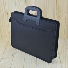 A4 Zipper Briefcase Document File Holder Organizer Office Canvas Handbag #UK