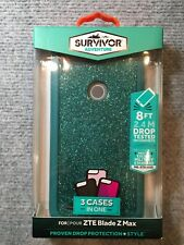 ZTE Blade Z Max Griffin Survivor Adventure 3 Cases In One  TEAL GREEN - 900