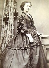 1860s Victorian Carte de Visite Card Photograph by Norton & Iris Islington