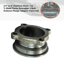 """2.5""""to 3""""Stainless Auto Car V-Band Turbo Downpipe 4 Bolt Exhaust Flange Adapter"""
