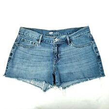 Old Navy Jean Shorts Cutoffs Blue Denim Size 8 Booty Shorts Med Rise Med Wash