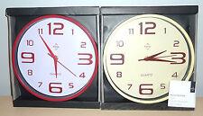 Premier Housewares Red or Cream wall clock