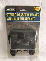 Vintage AtiTech Portable Stereo Cassette Player Walkman Built In Speaker Clip