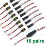 10x 2 Pin Way Car Waterproof Male Female Electrical Connector Plug Wire Kit Set