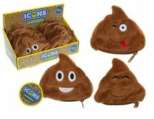"POOP PLUSH COIN PURSE Cute Shaped Message Icon 4"" EmojI Poo Emoticon Soft Gift"