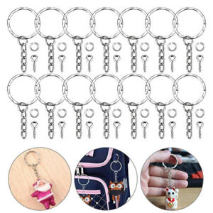 50PCS Keyring With Eye Screws DIY Crafting Tool Jewelry Making Key Chains Kits T