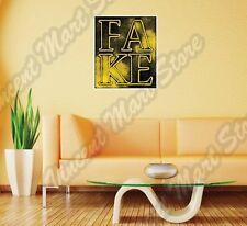 "Fake Concept Creative Design Grunge Wall Sticker Interior Decor 22""X25"""