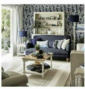 Laura Ashley Waxham Dark Seaspray Blue Wallpaper * FREE DELIVERY*