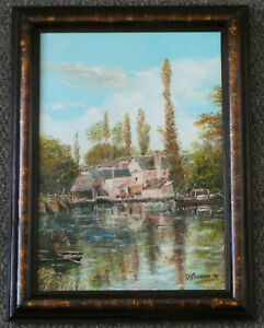 IFFLEY MILL - OXFORDSHIRE. OIL PAINTING ON CANVAS (1992).