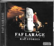 """CD ALBUM 14 TITRES--FAF LARAGE--RAP STORIES--2007 """"FRENCH RAP"""""""