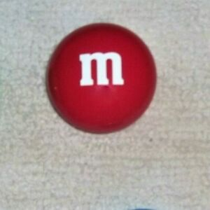 """Mars, M&M's Red Candy Tin Circle Container, 3 x 3"""" Collectible SHIPS FREE"""