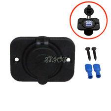 12-24V Dual USB Socket Charger Adapter Fit For Car Boat Travel Trailer ATV UTV
