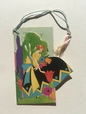 Vintage 1920s Lady in Colorful Art Deco Dress Bridge Card Tally