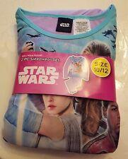 New Girls Disney STAR WARS  Flannel Pajamas 2 piece Sleep wear Set Size 10/12 12