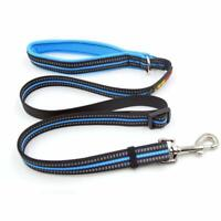 Strong Durable Nylon Dog Leash with Highly Reflective Threads Dog Collar Hook