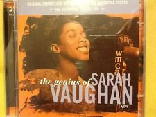 SARAH. VAUGHAN.    2 CDs.  GENIUS. OF.        THE. DEFINITIVE. COLLECTION.