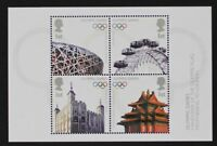 GR BRITAIN 2008 MS2861 Olympic Games Handover to China Mini-Sheet, S/S Mint NH