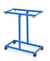 AdirOffice Blue Adjustable Blueprint Sheet Rack Mobile Vertical Plan Center