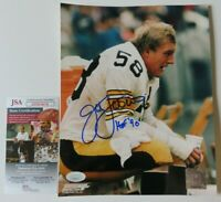JACK LAMBERT SIGNED 8x10 PHOTO Insc. HOF '90 ~ PITTSBURGH STEELERS ~ JSA DD03676