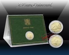 VATICAN 2 EURO 2018 ( Padre Pio ) 2 euro Commemorative coin ( CoinCard ) *BU